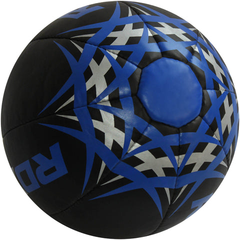 RDX Heavy Leather-X Exercise Training Medicine Ball - Black / Blue