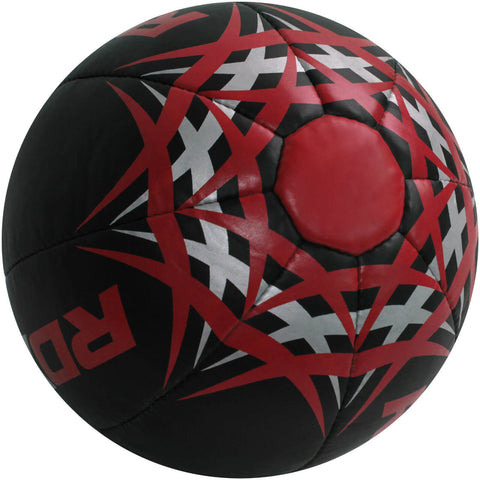 RDX Heavy Leather-X Exercise Training Medicine Ball - Black / Red