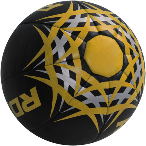 RDX Heavy Leather-X Exercise Training Medicine Ball - Black / Yellow