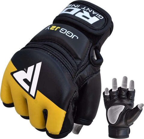 RDX JGG-J Leather-X Kids MMA Training Gloves