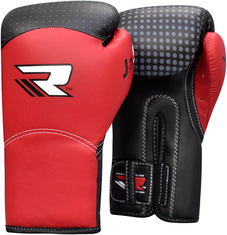 RDX Kids Leather-X Sparring Boxing Gloves - Red