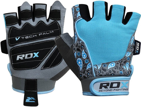 RDX Ladies Amara Bodybuilding Weight Lifting Gym Gloves - Turquoise