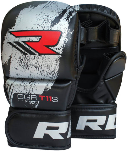 RDX Leather-X MMA Training Grappling Gloves