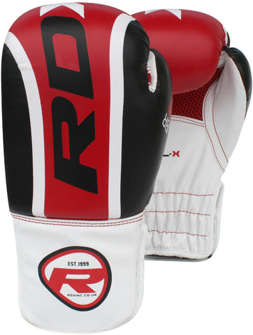 RDX Leather-X Training Kids Boxing Gloves - Red