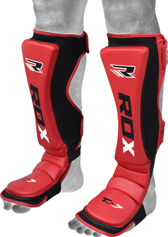 RDX MMA Cow Hide Leather Shin Insteps - Front