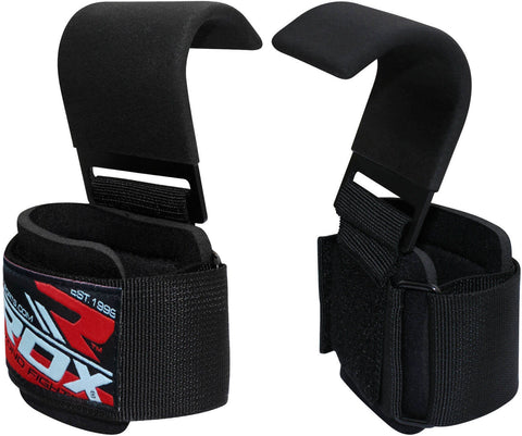 RDX Power Lifting Hook Strap Exercise Gym Straps - Pair