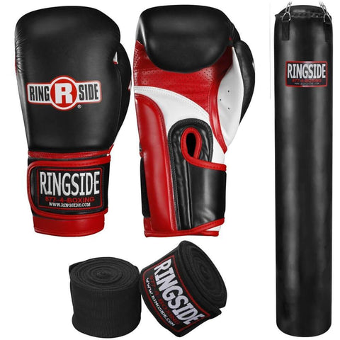 Ringside Thai Heavy Bag, Boxing Gloves + Handwraps Bundle - Main