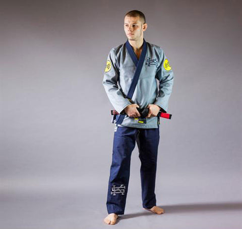 "Scramble ""Rebel"" Grey Brazilian Jiu Jitsu Gi - Main"