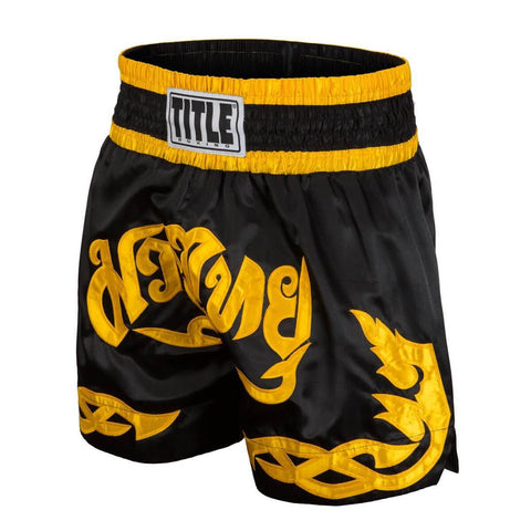 Title Boxing Black Tribal Muay Thai Shorts - Main