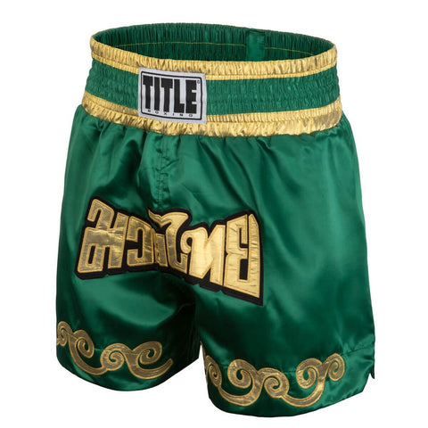 Title Boxing Green Flower Muay Thai Shorts - Main