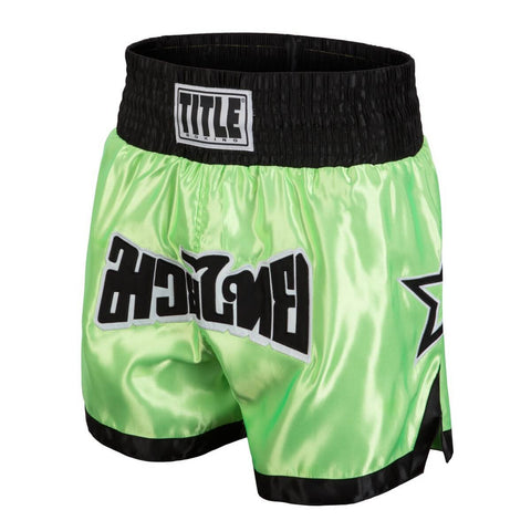 Title Boxing Green Star Muay Thai Shorts - Main