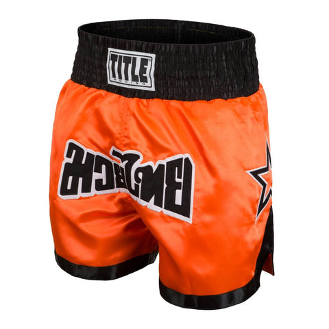 Title Boxing Orange Star Muay Thai Shorts - Main