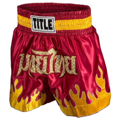 Title Boxing Red Flame Muay Thai Shorts - Main