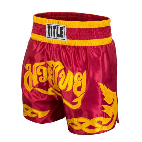 Title Boxing Red Tribal Muay Thai Shorts - Main