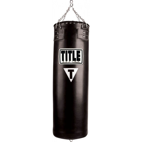 Title Boxing Traditional Synthetic Leather Heavy Bag - Front