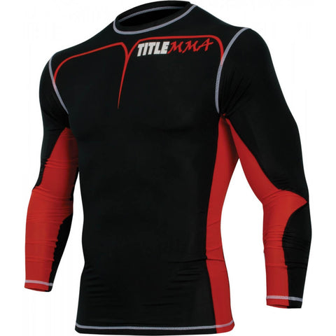 Title Quad-Flex Adversary Long-Sleeve MMA Rashguard - Main