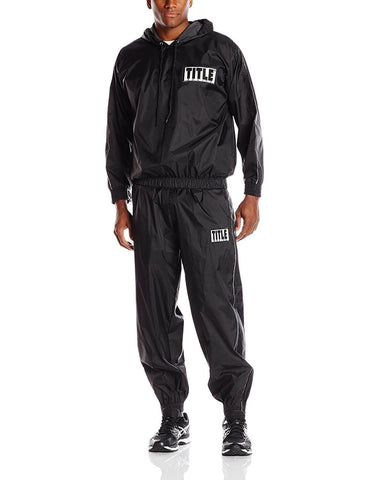 Title Black Sauna Suit With Hood - Main