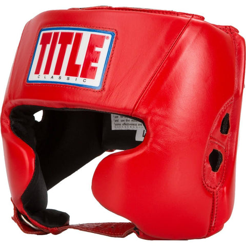 Title Classic Amateur Competition Headgear W/Cheeks - Angle 2
