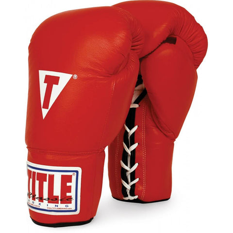 Title Classic Leather Training Gloves (Lace) - Angle 3