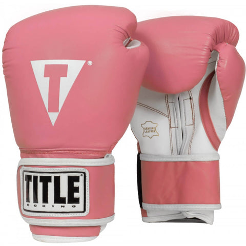 Title Leather Pro Style Training Gloves - Angle 2