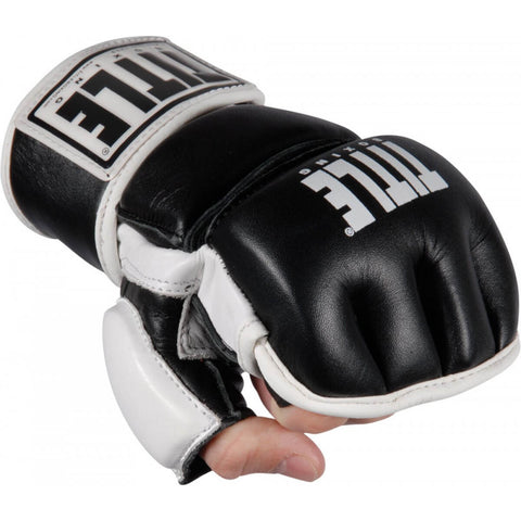 Title Wristwrap Leather MMA Bag Gloves - Main