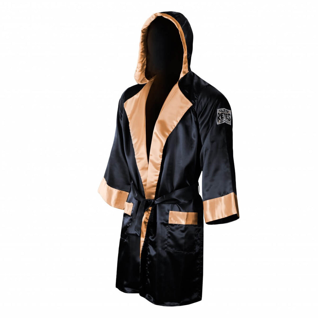 Red White Cleto Reyes Satin Boxing Robe With Hood Robes