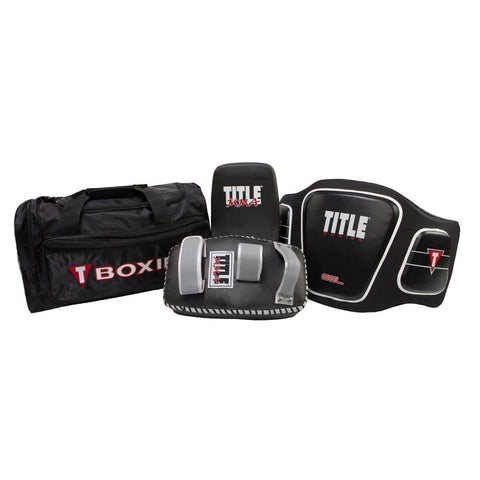 Coach's Bundle - Thai Pads, Body Protector & Duffel Bag - Main