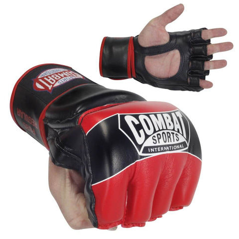Combat Sports Youth Pro Style MMA Gloves Red S