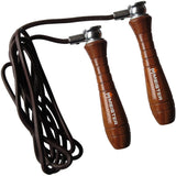 Meister Weighted Wood & Leather Jump Rope - Main