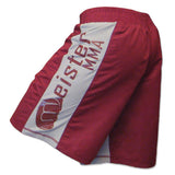 Meister Crimson Red MMA Board Fight Shorts - Angle 2