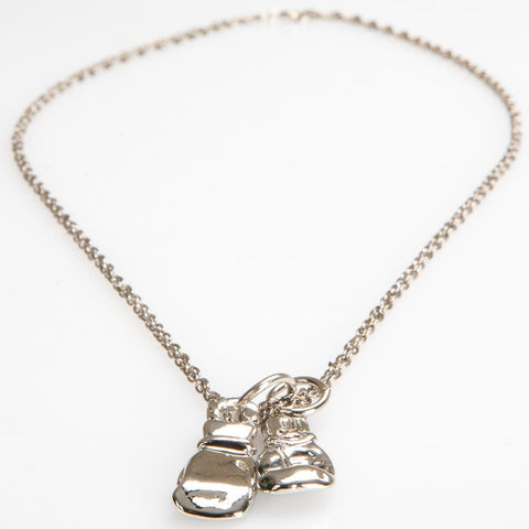 Silver Gloves Necklace - Main