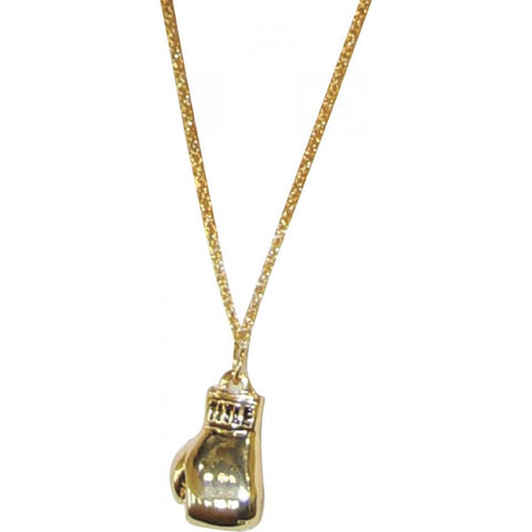 Single Gold Glove Necklace - Main