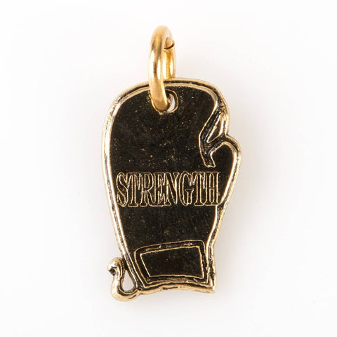 Strength Boxing Glove Charm - Gold - Silver - Main