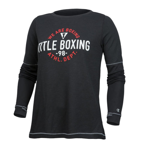 Title Boxing Champion Women's Long-Sleeves Cool Down Crew - Main