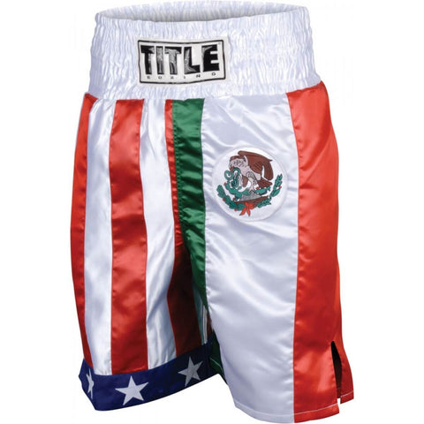 Title Boxing Flag Stock Boxing Trunks - Main
