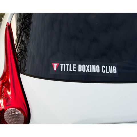 Title Boxing Logo Tbc Sticker Rectangle - Main