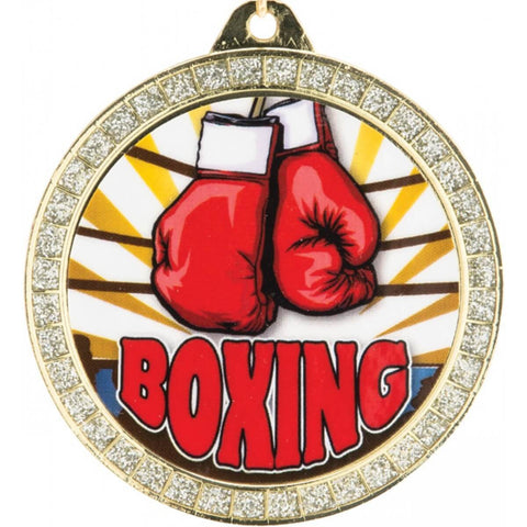 Title Boxing Sparkling Gloves Medal Award - Main