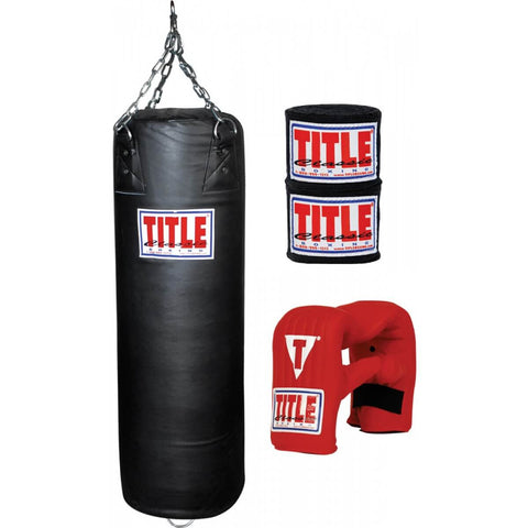 Title Boxing Start Up Bundle - Heavy Bag, Bag Gloves & Wraps - Main