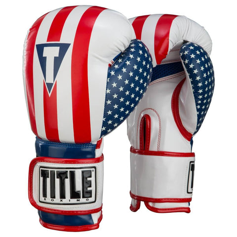 Title Infused Foam Combat USA Boxing Training Gloves - Main