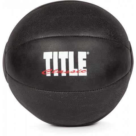 Title Max-Grip Leather Medicine Ball - Main