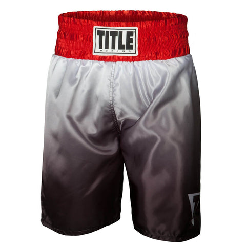 Title Sublimated Boxing Fight Trunks - Main