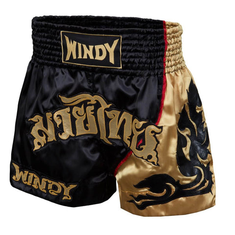 Windy Sport Black Leaf Muay Thai Shorts - Main