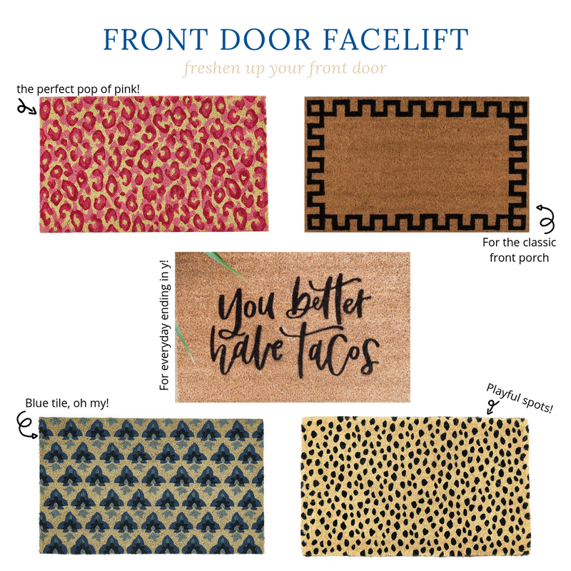 Chic Door Mats To Upgrade Your Front Door