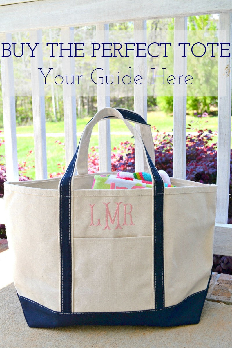 Your Guide to Buying the Perfect Monogram Tote Bag