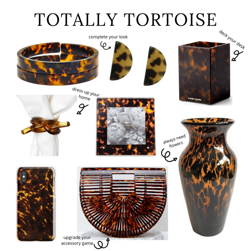 Totally Tortoise- Round Up of Tortoise Shell Decor and Accessories