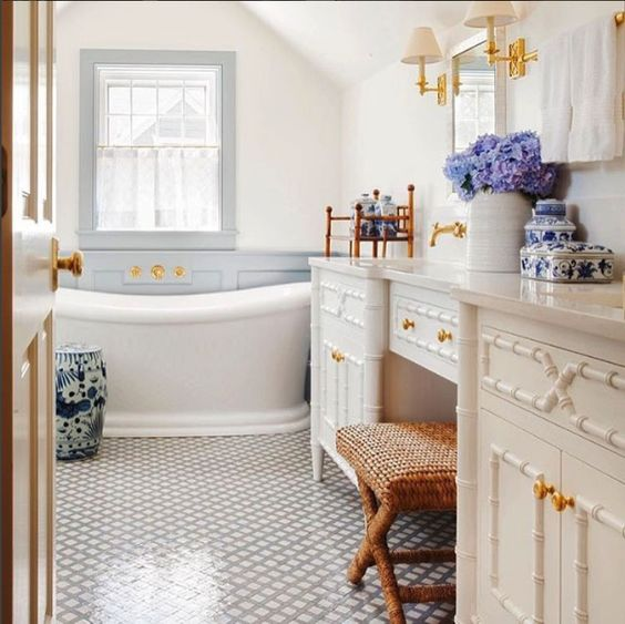 Blue and White Classic Bathroom