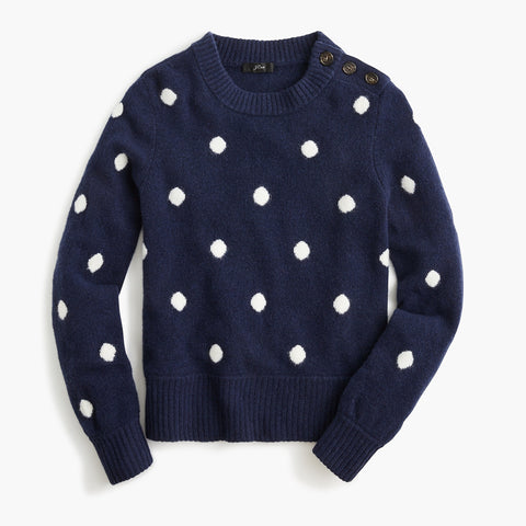 Button Detail Sweater JCrew