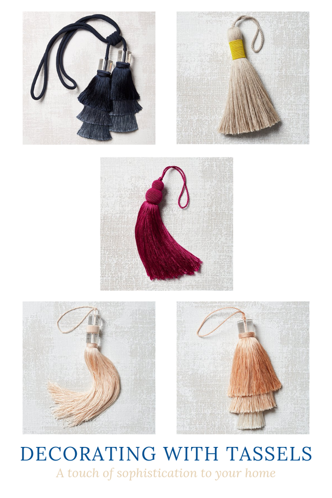 Decorating with Tassels- An inexpensive design accessory to add sophistication to your home