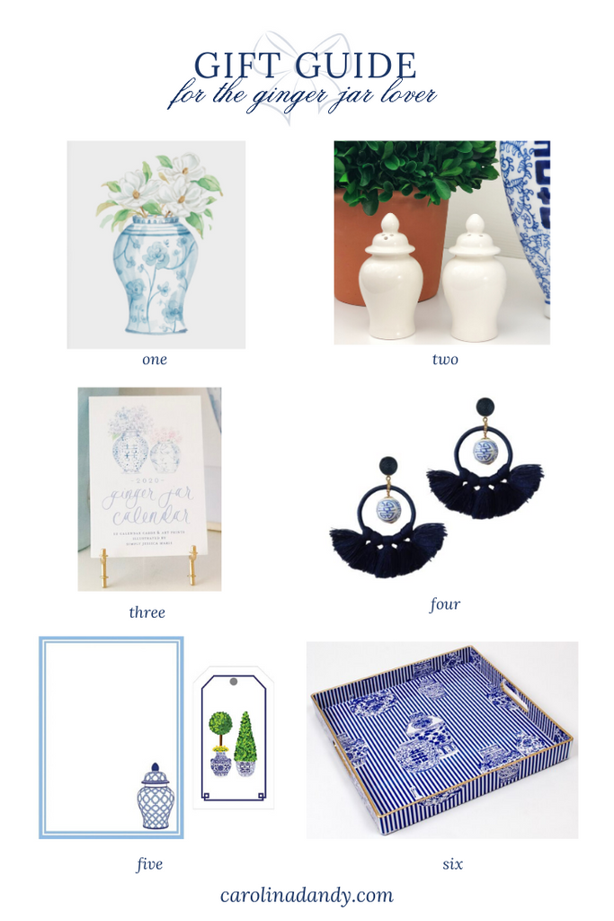 Gift Guide For the Ginger Jar Lover- Gifts for the Blue and white obsessed