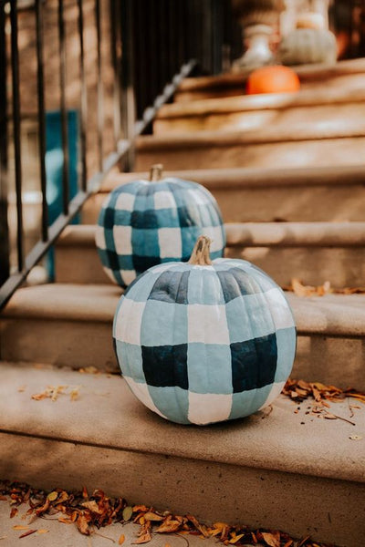 Gingham Pumpkin Painting Tutorial